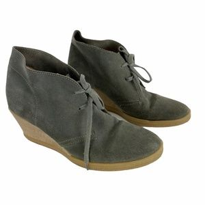 J. Crew Macalister gray suede wedge shoe size 10